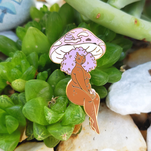 Snail Queen Mushroom Girl - Hard Enamel Pin