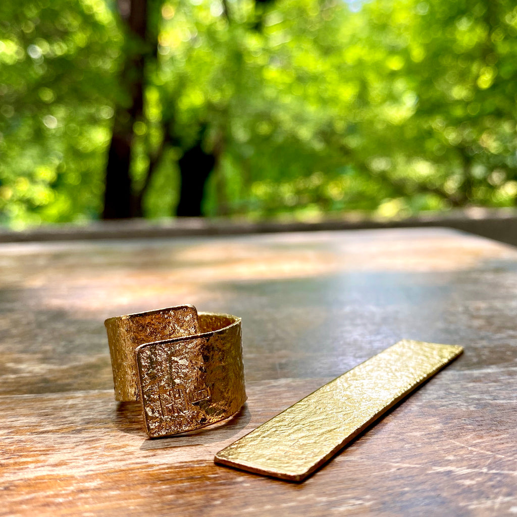 TIN BREATH Ring Gold plate 15x80mm