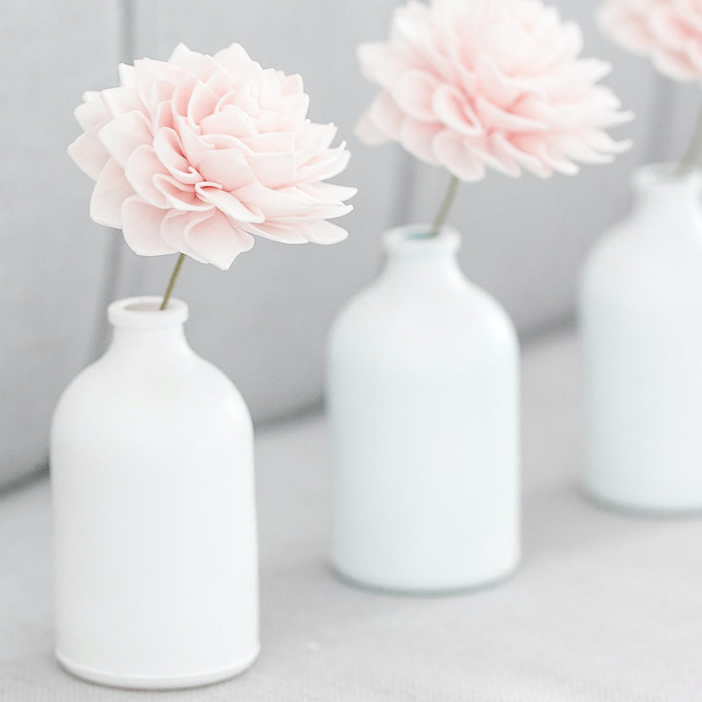 Blush Stemmed Wood Flowers