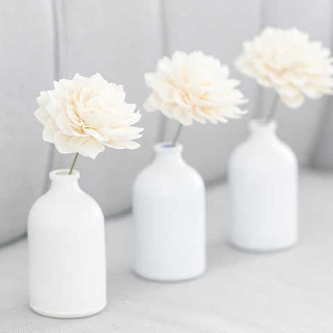 Cream Stemmed Wood Flowers