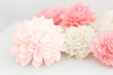 Blushing Collection - Artificial Flowers, Wooden Flowers, Wedding Flowers, Wedding Table Decor, Wooden Flowers