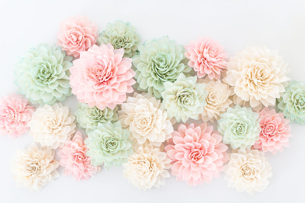 ... 10 Mint Wooden Flowers, Wedding Decorations, Wedding Flowers, Mint  Wedding ...