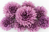 10 Purple Wooden Flowers, Wedding Decorations, Wedding Flowers, Purple Wedding