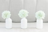 Mint Stemmed Wood Flowers