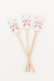 10 Personalized Arrow Drink Stirrers, Wedding Drink Stirrers