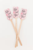 10 Kate Said Yes! Drink Stirrers, Personalized Wedding Drink Stirrers