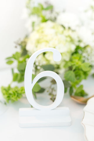 White Wedding Table Numbers, Wooden Table Numbers, Custom Table Numbers