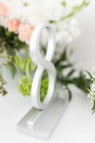Silver Wedding and Event Table Numbers, Wedding Table Numbers