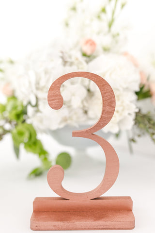 Copper Wedding and Event Table Numbers, Copper Table Numbers