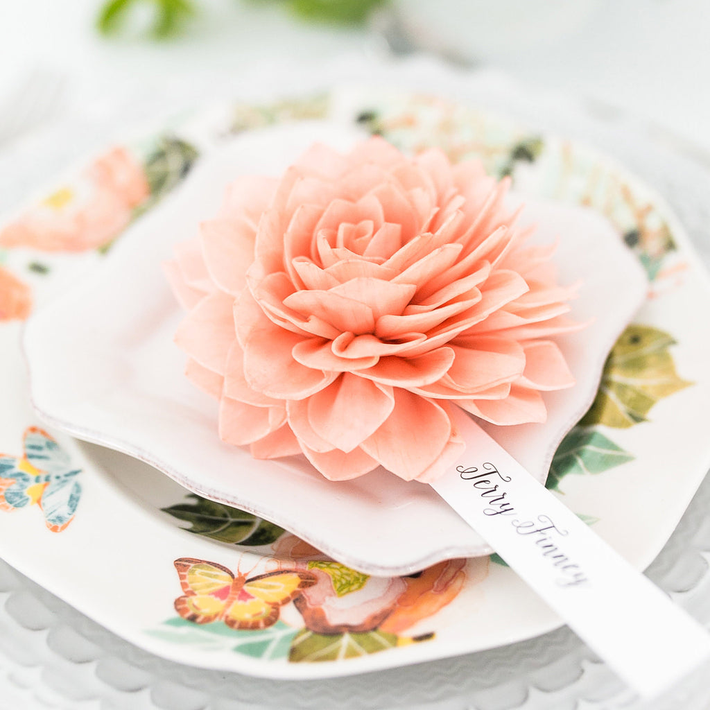 Coral Place Cards, Wedding Place Cards, Escort Cards