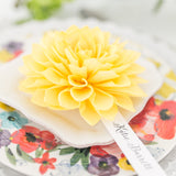 Sunshine Yellow Wooden Flower Place Cards and Escort Cards