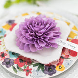 Purple Wooden Flower Place Cards and Escort Cards
