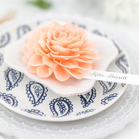 Peach Place Cards, Wedding Place Cards, Escort Cards