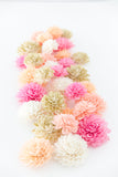 Pink Primrose Collection - Wooden Flowers, Bridal Shower Decor, Wedding Flowers, Wedding Table Decor, Wooden Flowers
