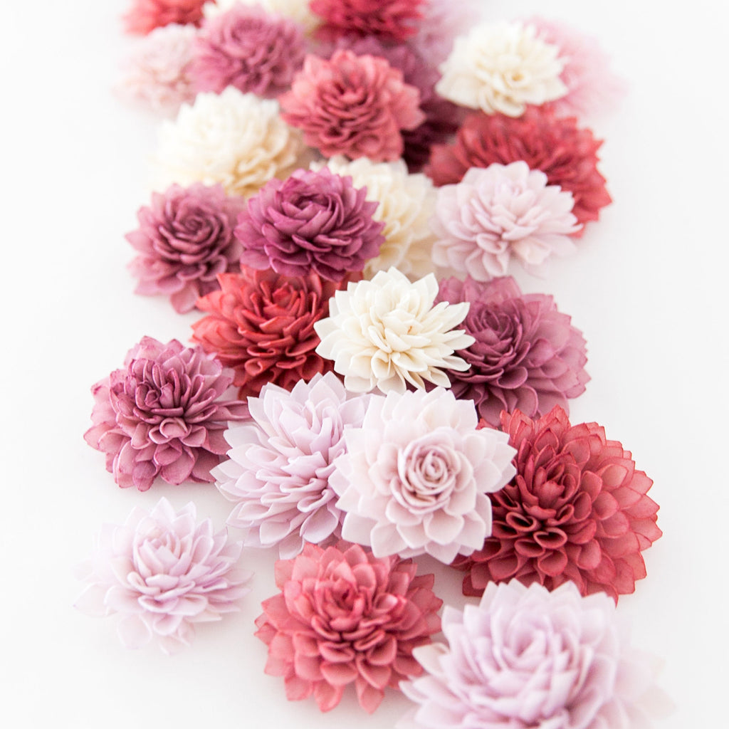 Currant Collection - Wooden Flowers, Wedding Decorations, Wedding Flowers, Wedding Table Decor, Wooden Flowers