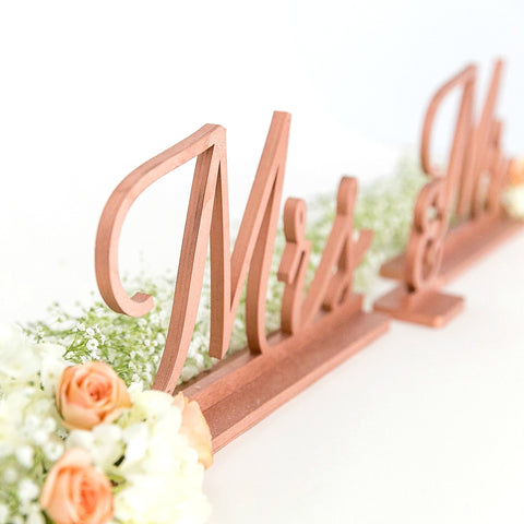 Copper Mr and Mrs Signs, Wedding Signage, Bride and Groom Signs, Reception Decor, Wedding Signs