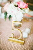 True Gold Wedding and Event Table Numbers, Wedding Table Numbers