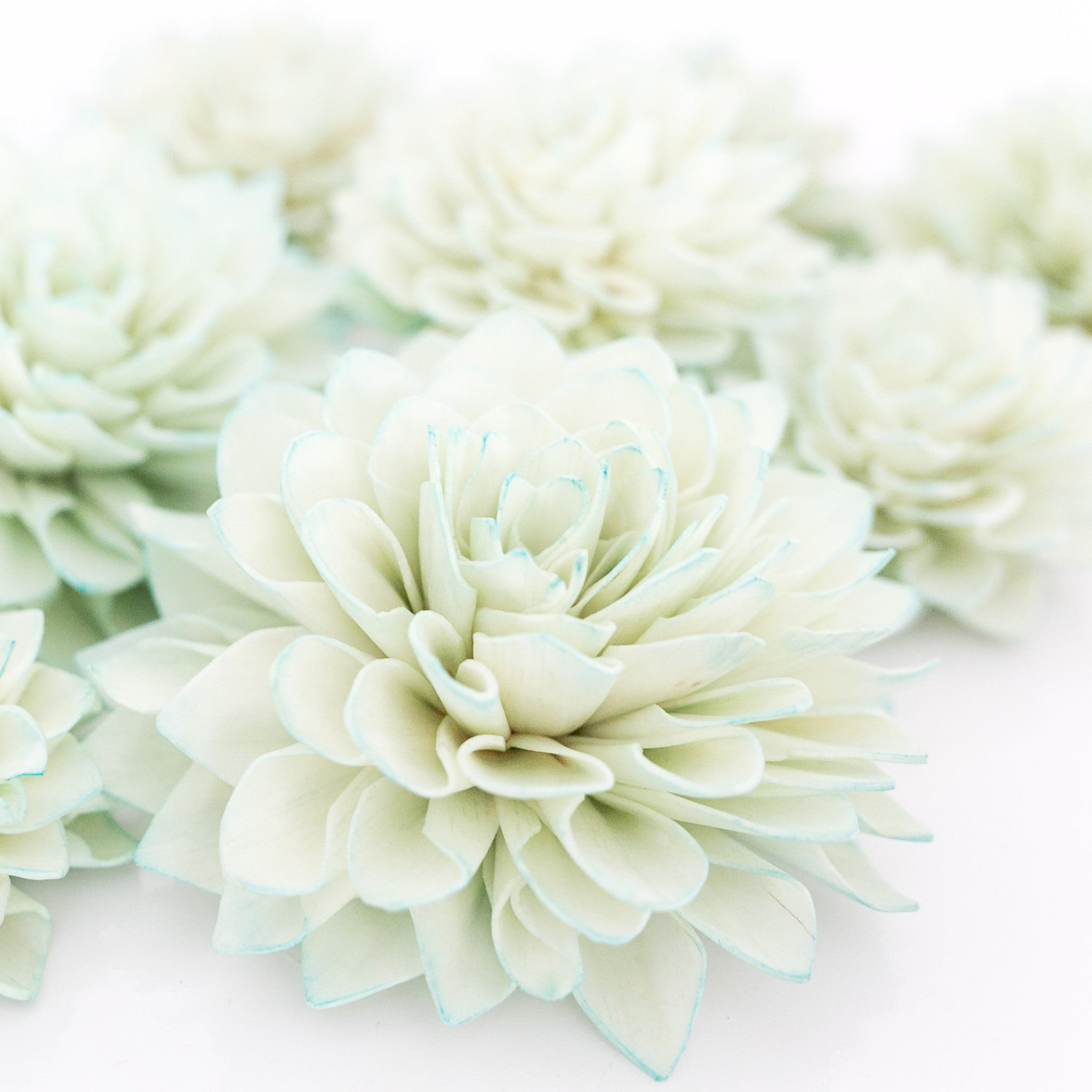 10 Mint Wooden Flowers Wedding Decorations Wedding Flowers 10 Mint Wooden  Flowers Wedding Decorations Wedding Flowers