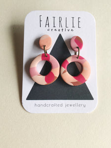 Multi Coloured - Organic Circle Dangles