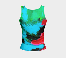 Load image into Gallery viewer, Magenta Tide Fitted Tank Top - Regular