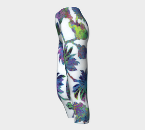 Tropical Blooms Capri Leggings
