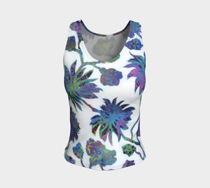 Tropical Blooms Fitted Tank Top - Regular