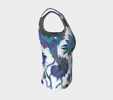 Load image into Gallery viewer, Tropical Blooms Fitted Tank Top - Regular