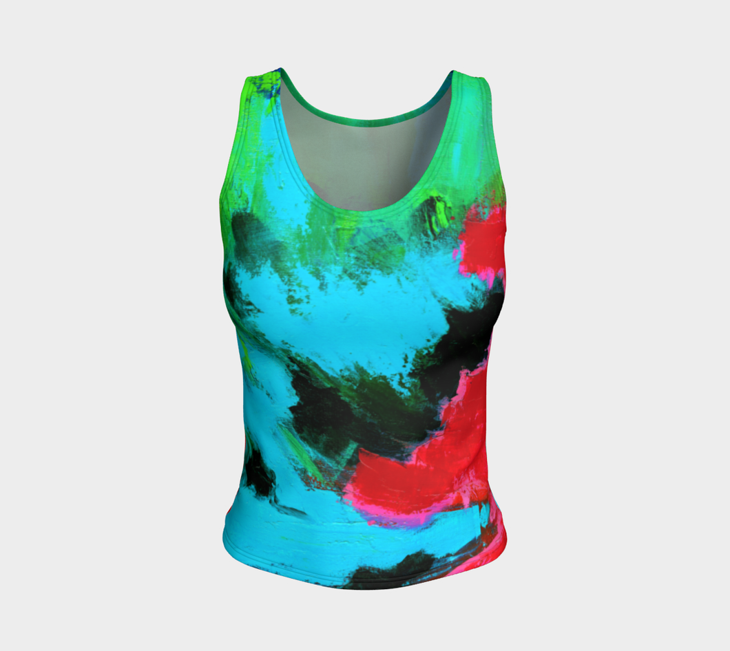 Magenta Tide Fitted Tank Top - Regular