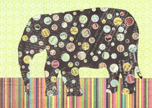 Load image into Gallery viewer, Roncy Elephant - Black and Green