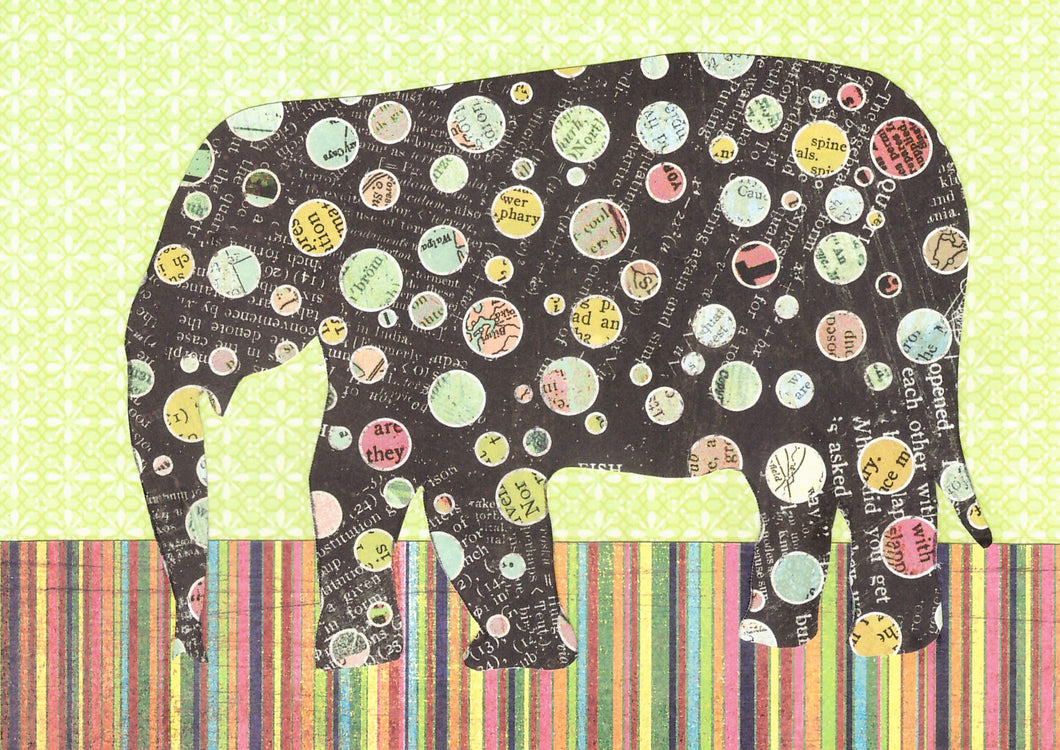 Roncy Elephant - Black and Green