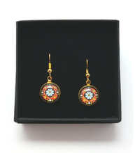 Load image into Gallery viewer, Daisy Design Hand Painted Earrings