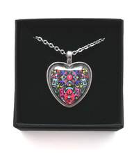 Load image into Gallery viewer, Multicoloured Heart Design Hand Painted Pendant