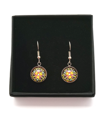 Nebula Design Hand Painted Earrings