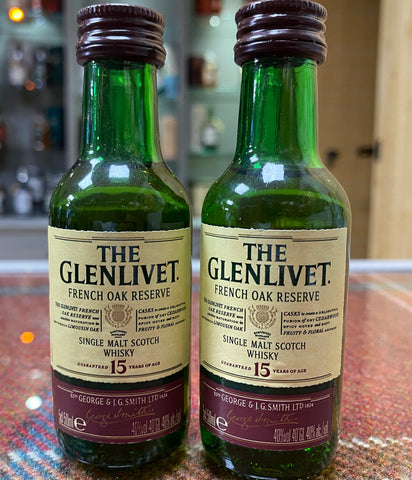 GLENLIVET Reserve 15 Year Single Malt Scotch Whisky Miniature - 5cl x 2