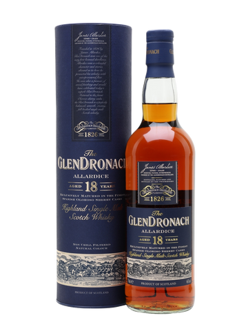 Glendronach - 18 Year Old Allardice (2019 & 2020 Bottling) (70cl, 46%)
