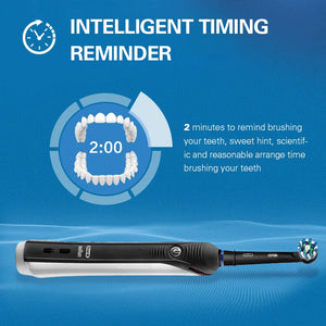 Oral B Ultrasonic Electric Toothbrush PRO2000 3D Smart Rechargeable With Replacement Brush Heads Vitality Brush Teeth Travel Box