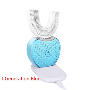 360 Degree Automatic Sonic Electric Toothbrush Silicone Ultrasonic Electronic Tooth Brush USB Rechargeable 4 Mode Teeth Cleaner