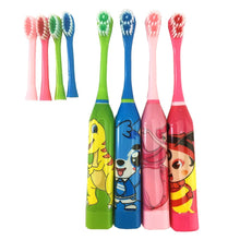 Load image into Gallery viewer, Vbatty Children's Toothbrush Cartoon Sonic Electric Toothbrush Oral Hygiene Teeth Care Tooth Brush Kids Battery Power brush