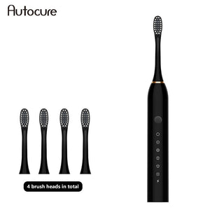 Autocure 2020 New Electric Toothbrush Sonic Vibration 6 Files Adult Household Soft Fur USB Charging Children Electric Toothbrush