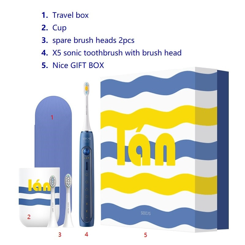 SOOCAS X5 Electric Toothbrush Sonic Toothbrush Brush for Xiaomi Mijia Teeth rechargeable NFC Smart Control Automatic Toothbrush