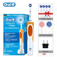 Load image into Gallery viewer, Oral B Sonic Electric Toothbrush D12 Vitality Rachargeable Rotating Ultrasonic Automatic Replacement Heads Electronic Toothbrush