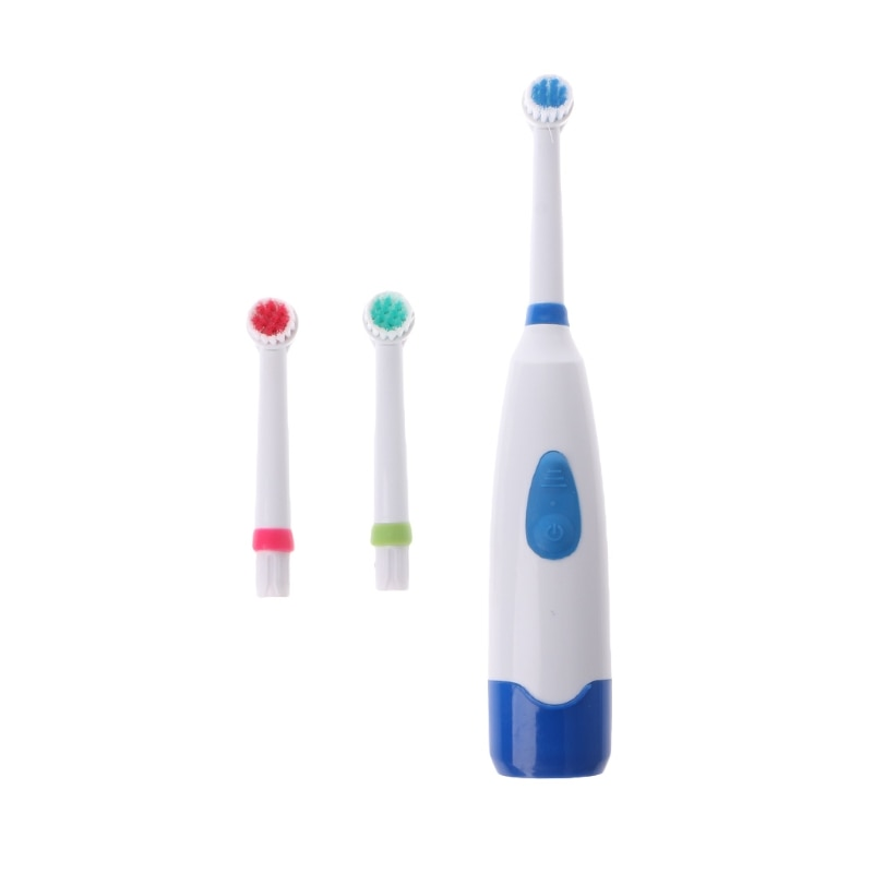 Waterproof Rotating Electric Toothbrush With 3 Brush Head