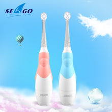 Load image into Gallery viewer, SEAGO Baby Electric Toothbrush 1-3 Ages Smart Tooth Brush Waterproof Soft Sonic Brush Tooth Toddler Electronic Toothbrush SG513