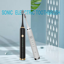 Load image into Gallery viewer, 16 Mode Sonic Electric Toothbrush Rechargeable USB Ultrasonic Smart Brush 5 Replacement Brush Teeth Heads Adults Tooth Whitening
