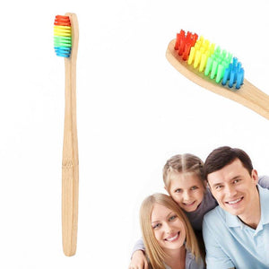 NEW 1 Pcs Brush Natural Bamboo Toothbrush Bamboo Charcoal Toothbrush Low Carbon Bamboo Nylon Wood Handle Toothbrush TSLM1