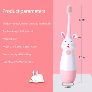 New Hot Children Electric Toothbrush Cartoon Pattern Tooth Brush Electric Teeth Tooth Brush For Kids with Soft Replacement Head