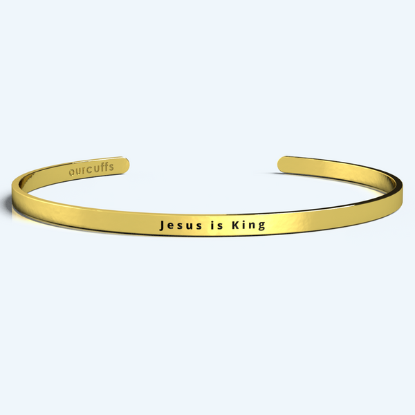 """JESUS IS KING"" CUFF"