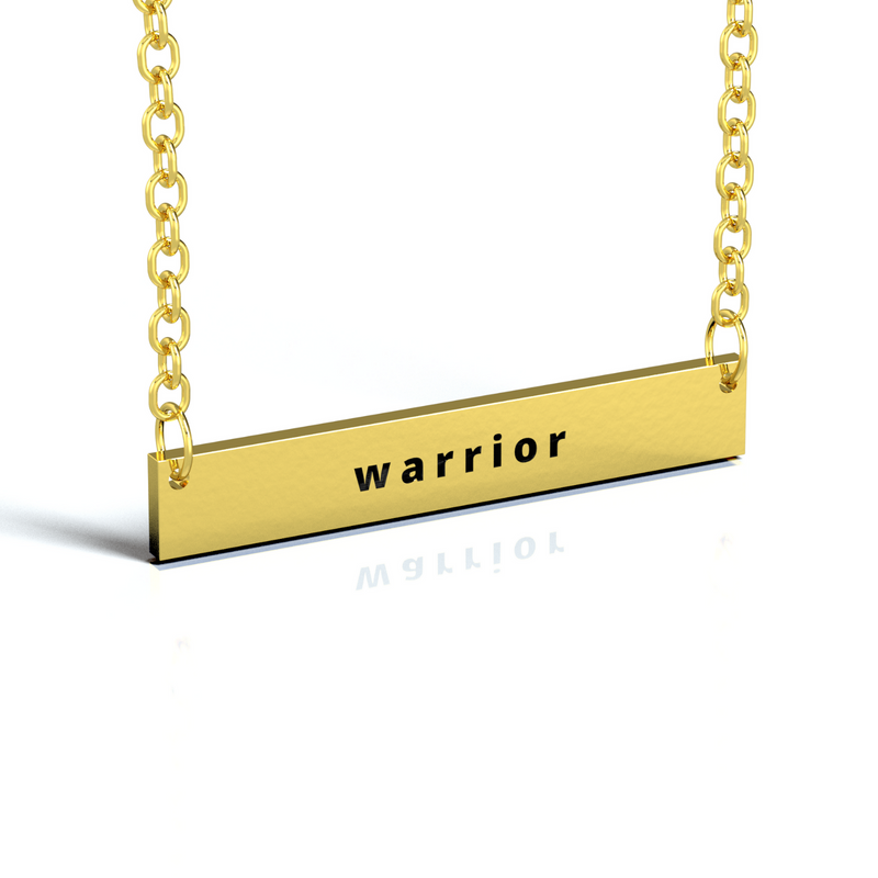 CUSTOM TEXT BAR NECKLACE