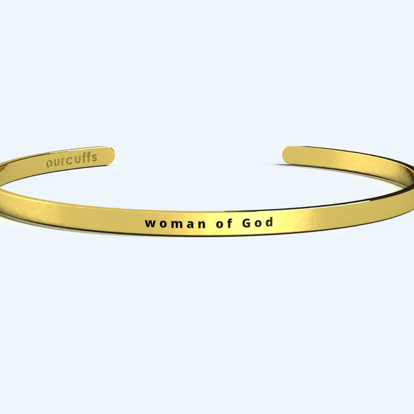 """WOMAN OF GOD"" CUFF"