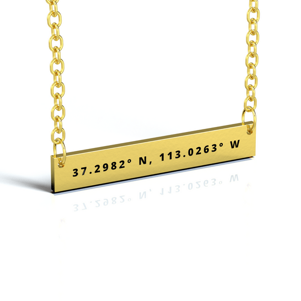 COORDINATES BAR NECKLACE